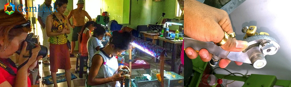 visiting gem cutting and polishing factory and get practical experience